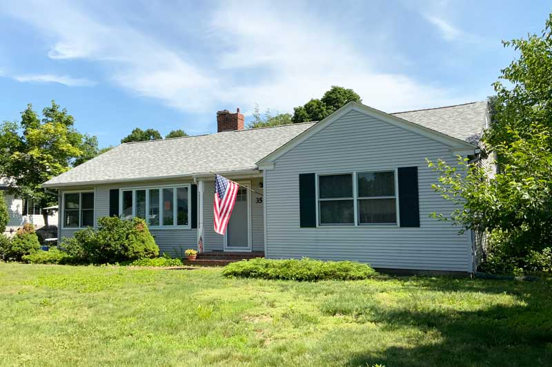 Project in Ludlow, MA - roofing for 100 year old veteran